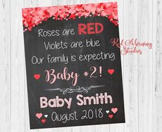 valentines day baby 2 pregnancy reveal sign sibling new baby sign second child