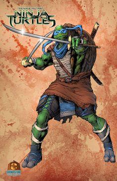 Leonardo of the TMNT Colored by Cadre on deviantART