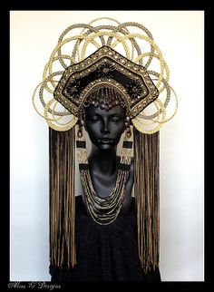 Gold  Empress Headdress - MADE TO ORDER by MissGDesignsShop (Caley Johnson, Los Angeles, CA - USA)