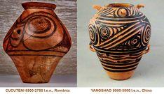 Influenţele civilizaţiei CUCUTENI: YANGSHAO, China (5000-3000 î.e.n.) China, Porcelain