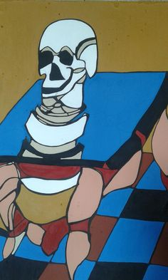 Hello other new painting oil and wood  height 2 meters #artnews #art
