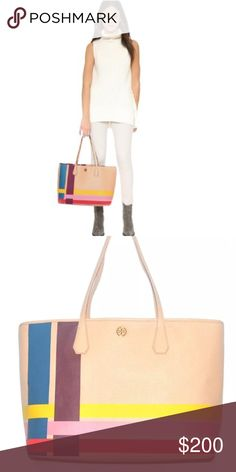 NWT Tory Butch Blake Tote in Multi-color stripe Brand new Tory Burch Blake tote to add to your Spring wardrobe. Has tags and I can include dust bag if you would like. Just didn't end up using it so selling for the price I bought it for, which is almost 60% off retail 🎉❤ don't let this one pass you by! Tory Burch Bags Totes