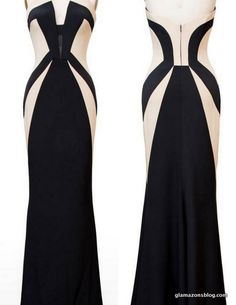 scandal (10/31/13) fashion-olivia-pope-rubin-singer-black-ecru-silk-gown-fall-2014-2