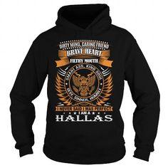 I Love HALLAS Last Name, Surname TShirt T shirts