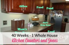 40 Weeks 1 Whole House: Week 10 - Kitchen Counters and Zones