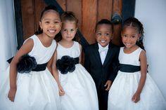 Modern Black and White California Wedding #bridal #flowergirls - Munaluchi Bridal Magazine