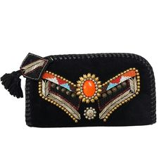 INDIAN BEAD WALLET:  Genuine leather wallet with center orange bead and metal work. Tassel with leather embroidery and metal work. Whip stitch border finishing around the wallet.  YKK brass zip top. With 6 pockets on each side.  And one zipper pocket in the center. Back has metal craft to match.  An all season unique clutch to match a true spirit of style. #Clutches #Satchel  #HandBag #purse #LeatherWallets #DesignerWallets #Gifts  #GiftsIdeas  #handbags #handbagseller #WomensFashions