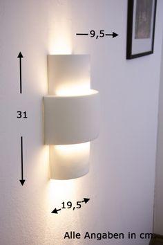 Design Leuchte Wandlampe Wandstrahler weiß Lampe Wandleuchte Flurlampe Leuchten | eBay