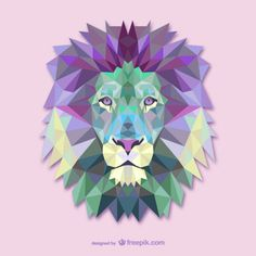 Vecteur triangle lion illustration