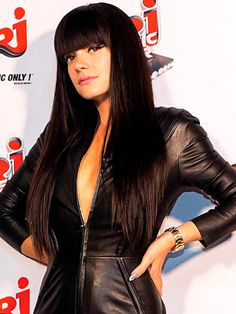 Lily Allen in leather.