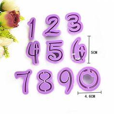 Cortador de Biscoitos Alfabeto e Números Estilo Disney 36 Peças