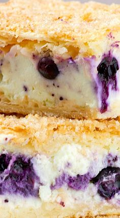 Blueberry Cheesecake Bars ^