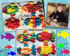 Poissons de Lison réalisé avec des flocons de maïs explications et coloriage à imprimer sur mon blog http://nounoudunord.centerblog.net/rub-activie-1er-avril-.html