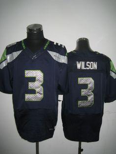 NFL Seattle Seahawks #3 Wilson Size 60 Blue Elite Jersey