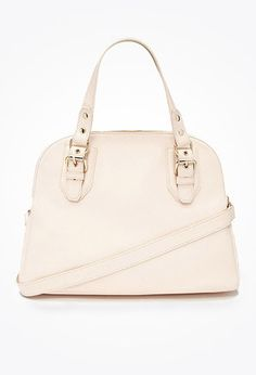 Faux Leather Satchel   Forever 21 - 1000052724
