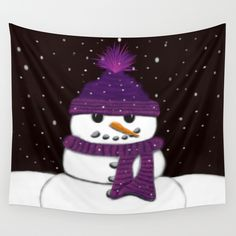 The Armless Snowman Wall Tapestry.  By One Artsy Momma