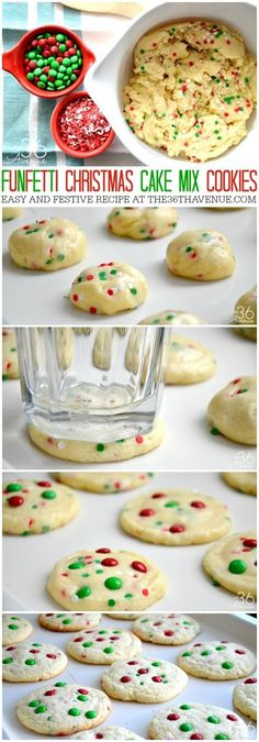 Christmas Cookie Recipe - Homemade cookies are the best! This easy Christmas Cake Mix Cookie Recipe is super easy to make and you'll need just a few ingredients. These Funfetti Christmas Cookies are festive, yummy, and perfect for Neighbor Christmas Gifts, Cookie Exchange Parties, or any time you are craving Holidays Snack! PIN IT NOW and make them later!