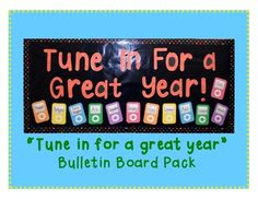 Tune in For a Great Year Bulletin Board Pack for $3.00
