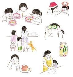 【Work】mook本イラストカット1 /『野菜は火の力でおいしくなるかんたん たっぷり 野菜料理』編/東京ガス「食」情報センター  小学館発行