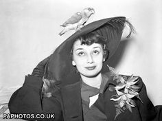 Audrey at the National Exhibition of Cage Birds in London.
