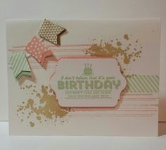 Stampin Up Birthday card idea