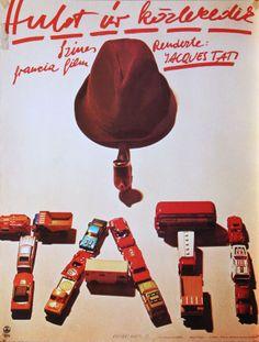 Hungarian poster for 'Hulot úr közlekedik' Design Gyárfás Gábor 1978