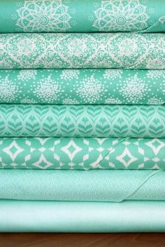 A Mint To Be in Mint Giveaway -- for Friday's Fabric GIveaway with The Intrepid Thread!! by maureencracknell, via Flickr