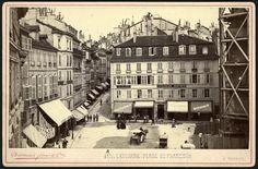 Place Saint-François - Vue sur magasins Bonnard (ancien Bon Génie) Lausanne Lausanne, Montreux, Bonnard, Vintage Posters, Switzerland, Photos, Pictures, Street View, Country
