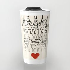 One Direction: Truly Madly Deeply Travel Mug