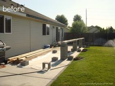 Patio Makeover {on a budget} check out all the before and after tons of great add to this backyard