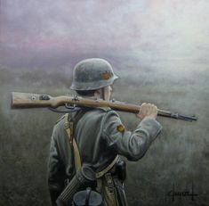 Division Azul Camino - José-Ferré Clauzel. Military Figures, Military Art, Military History, Army Drawing, Soldier Drawing, German Soldiers Ww2, German Army, Luftwaffe, Germany Ww2