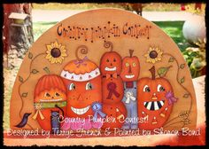 Country Pumpkin Contest  Painted by Sharon by PaintingWithFriends