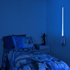 Light your room with a lightsaber? Um, yes.