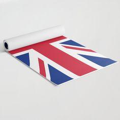 UK Flag Union Jack Yoga Mat by flagsoftheworld Uk Flag, Flags Of The World, Union Jack, Latex Free, Yoga, Artist, Artwork, World Flags, Work Of Art