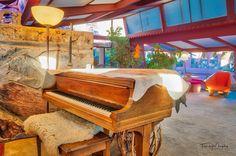 Grand Piano in the Garden Room @wrighttaliesin #taliesinwest #franklloydwright #scottsdale #arizona