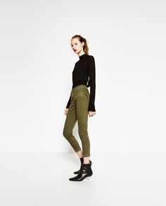 TROUSERS WITH FRAYED HEM-NEW IN-WOMAN | ZARA United States