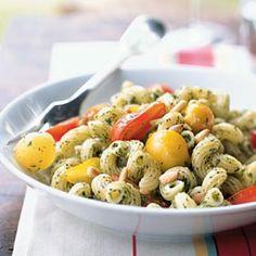 Cavatappi with Arugula Pesto and Cherry Tomatoes | CookingLight.com