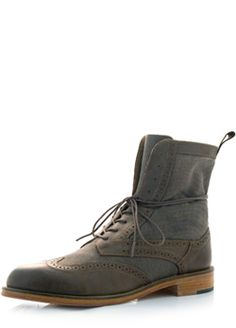 J Shoes brown and olive boots. Wingtips with a nice relaxed lace up or fold  over top e8b35c792