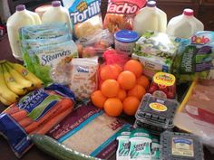 One Income Family Living: How I spend my $50 grocery budget: Lots of great money saving weekly meal plans here.