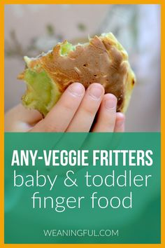 These soft veggie fritters are a great option when introducing solids to your baby as they are easy to grab by chubby hands. Toddlers and older kids can enjoy these quick fritters on the go or in their lunchboxes. They make great meal ideas for breakfast, lunch or dinner. Healthy Baby Food, Healthy Meals For Kids, Meals For One, Healthy Desserts, Kids Meals, Baby Meals, Healthy Recipes, Baby First Foods, Baby Finger Foods