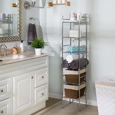 Wall Mounted Bathroom Cabinets, Bathroom Storage Shelves, Toilet Storage, Bathroom Organization, Storage Shelving, Storage Ideas, Bathroom Ideas, Bathtub Ideas, Storage Organization