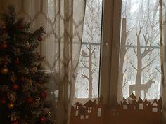 Xmas decor window Новый год