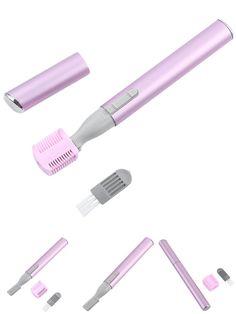[Visit to Buy] 1 Set Electric Epilator Women Female Men Portable Hair Trimmer Eyebrow Remover Shaving Cutting Machine  #Advertisement