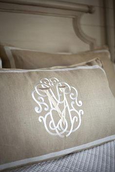 Beautiful monogram - Francie Hargrove Interior Design