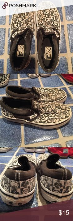 Kids Star Wars vans Used but still in good condition Star Wars vans. Youth size 1.0 Vans Shoes Sneakers