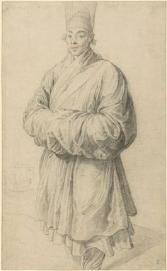 """Peter Paul Rubens Man in Korean Costume Belgium, Antwerp (ca. Paul Getty Museum [Source] Now this is a find. Sharon Mizota reports for Art News: """"For centuries, the drawing at the center of. Peter Paul Rubens, Rembrandt, Art Quiz, Getty Museum, Korean Art, Caravaggio, First Art, Antwerp, Gravure"""