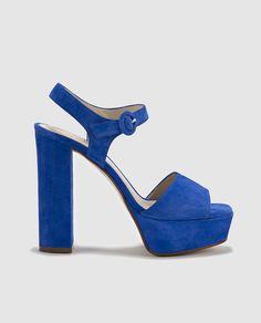 Sandalias de tacón de mujer de Gloria Ortiz de piel azules Zapatos De Tacón  Azules ff0696cd0448