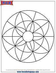 Collection of Simple Mandala Coloring Pages For Kids Easy Mandala Drawing, Mandala Art Lesson, Simple Mandala, Mandala Painting, Dot Painting, Mandala Design, Geometric Mandala, Mandala Pattern, Geometric Coloring Pages