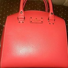 Kate Spade salmon color satchel with missing strap Brand new without tag just has missing crossbody strap. kate spade Bags Satchels