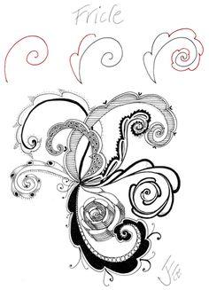 Fricle—part fern, part tenticle: http://kalacreative.com/julieszenbliss/2011/07/fricle-let-it-swirl/